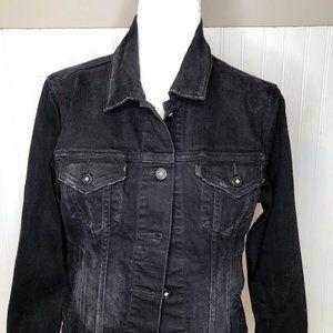 Levi's Black jean jacket. Light distressing